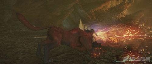 怪物猎人OL炎狮子招式截图1