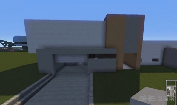 我的世界橙白简约现代别墅截图1