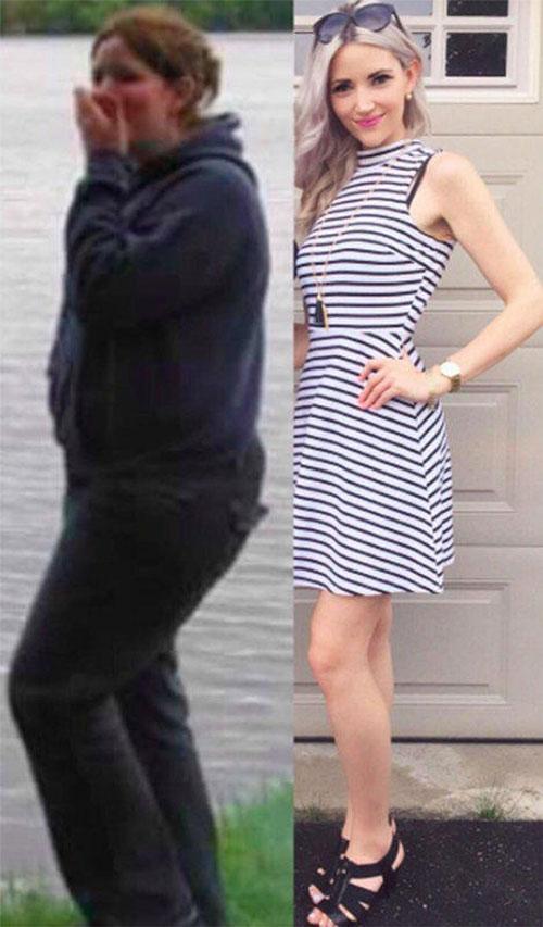 女子减肥前后对比照4