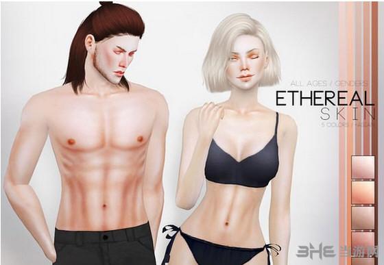 模拟人生4 PS空灵的皮肤MOD截图0