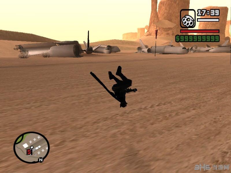 侠盗猎车手圣安地列斯蝙蝠侠黑暗骑士人物服装MOD截图0