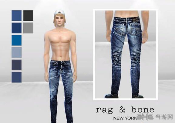 模拟人生4男用牛仔裤MOD截图0