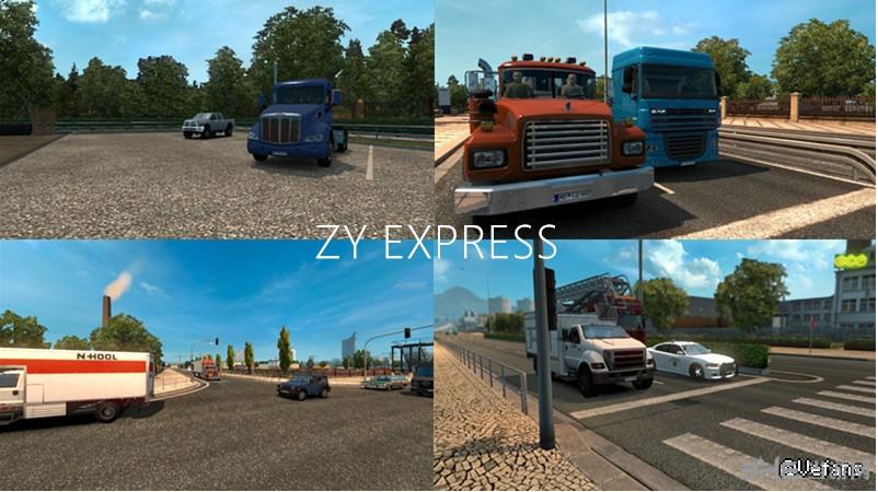 欧洲卡车模拟2美卡AI替换MOD截图1