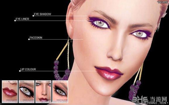 模拟人生4唇+睫毛膏+眼影+面膜MOD截图0