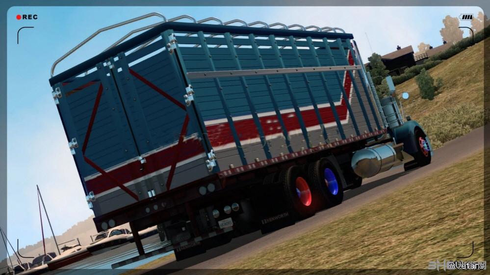 美国卡车模拟肯沃斯W900β全挂MOD截图0