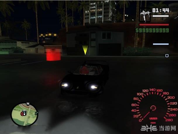 侠盗猎车手圣安地列斯炫光车辆速度表MOD截图2