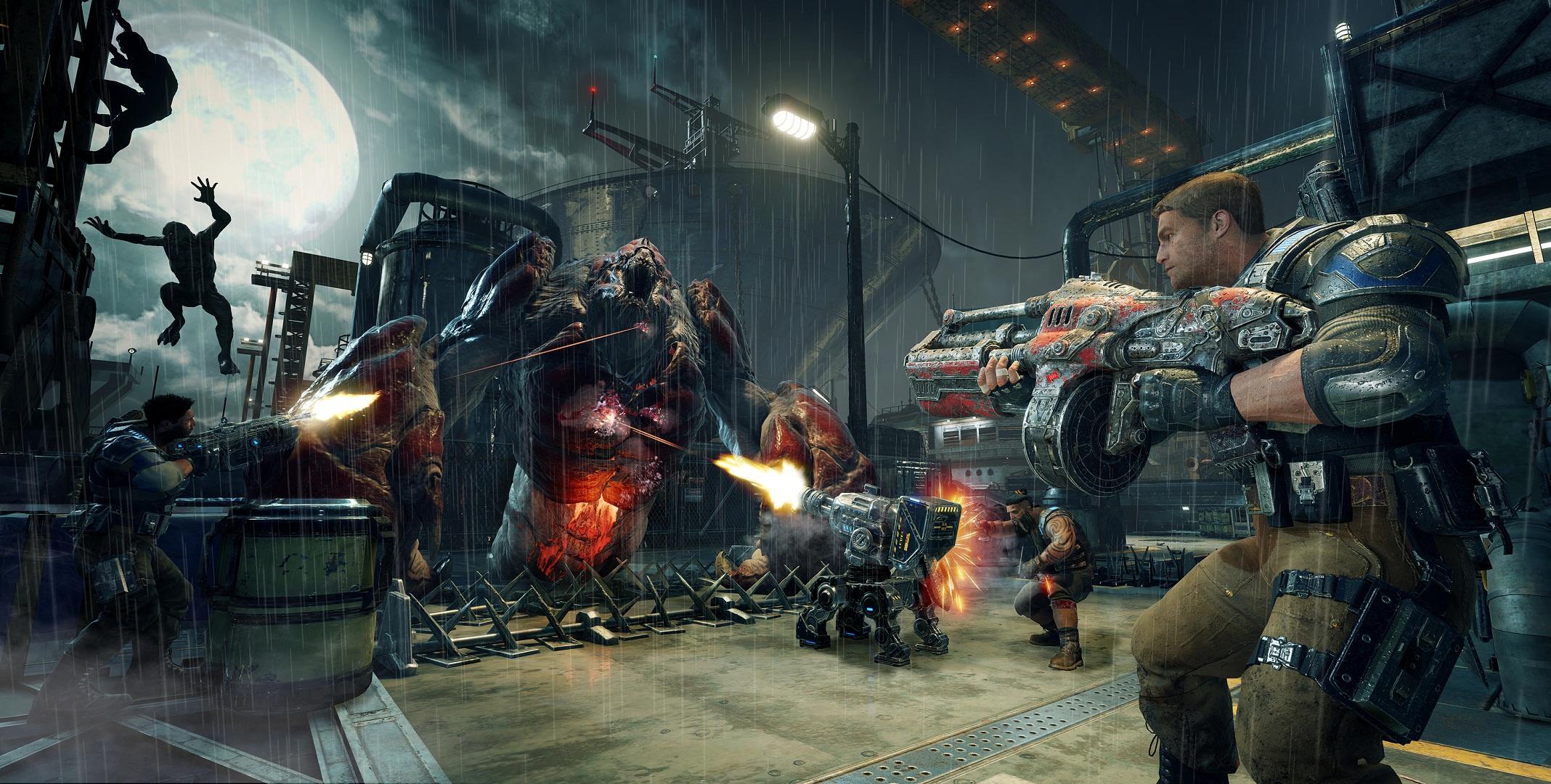 战争机器4壁纸欣赏 超精细展示疯狂屠戮场