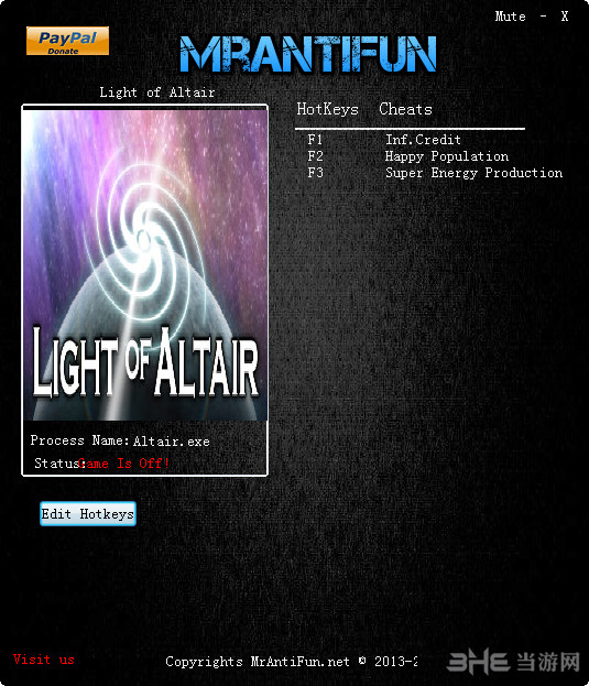 牵牛星之光light of altair三项修改器截图0