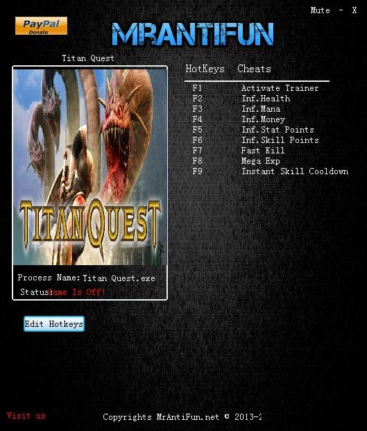 泰坦之旅八项修改器截图0
