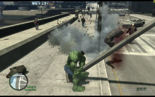 侠盗猎车手4绿巨人人物MOD截图1