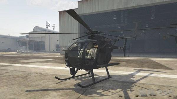侠盗猎车手5 AH-6和MH-6小鸟直升机MOD截图0