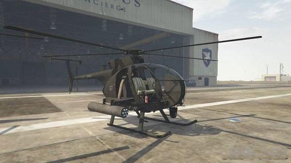 侠盗猎车手5 AH-6和MH-6小鸟直升机MOD截图1