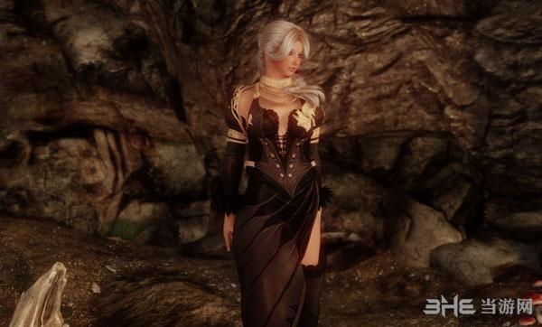 上古卷轴5天际Black and Gold Robes礼服MOD截图3