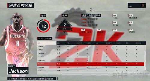 NBA2K17选秀名单截图