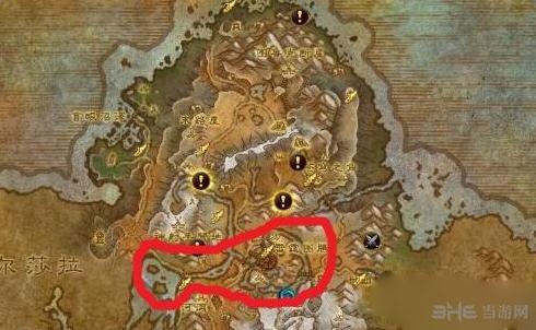 魔兽世界7.0冰河鲤鱼位置截图1