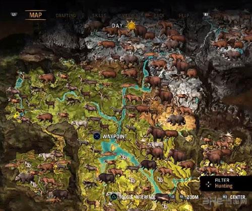 孤岛惊魂原始杀戮稀有动物分布图1