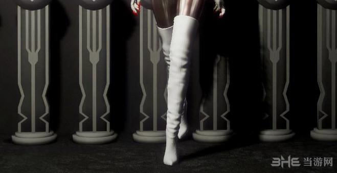 上古卷轴5:天际重制版过膝白靴MOD截图2