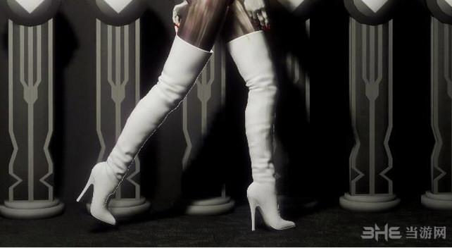 上古卷轴5:天际重制版过膝白靴MOD截图1
