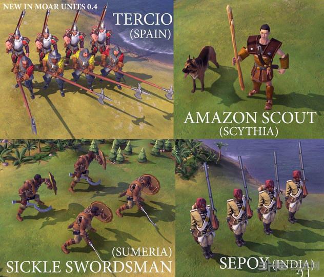 文明6 33兵种MOD截图1
