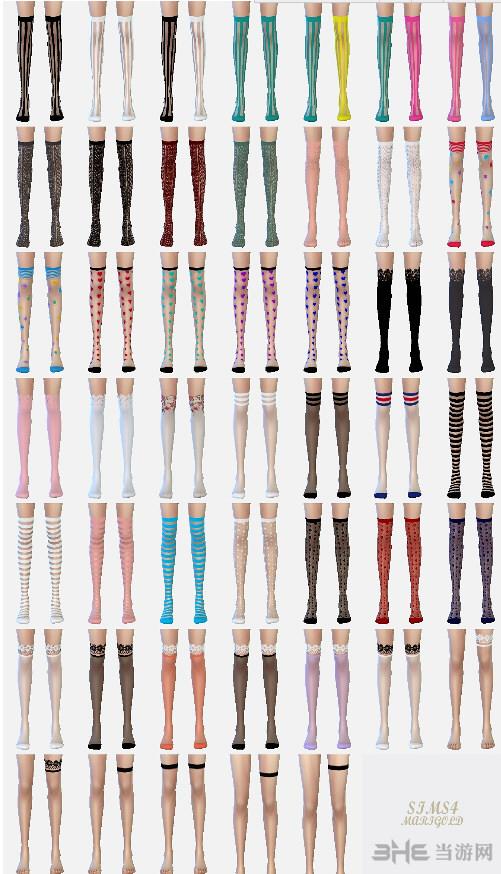 模拟人生4 47色过膝袜MOD截图0