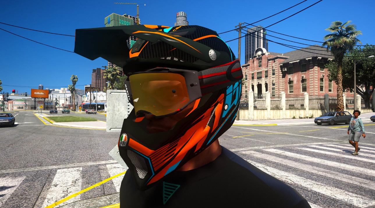 侠盗猎车手5意大利AGV AX 8 EVO摩托车头盔MOD截图0