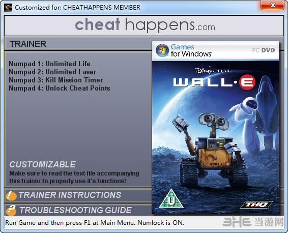 机器人总动员四项修改器截图0