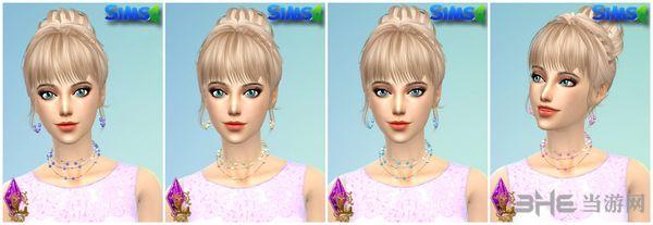 模拟人生4 4色珍珠项链+耳环MOD截图1