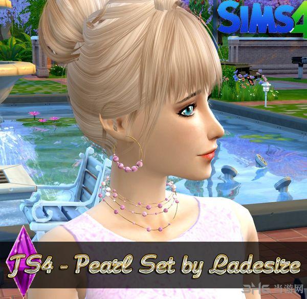 模拟人生4 4色珍珠项链+耳环MOD截图0