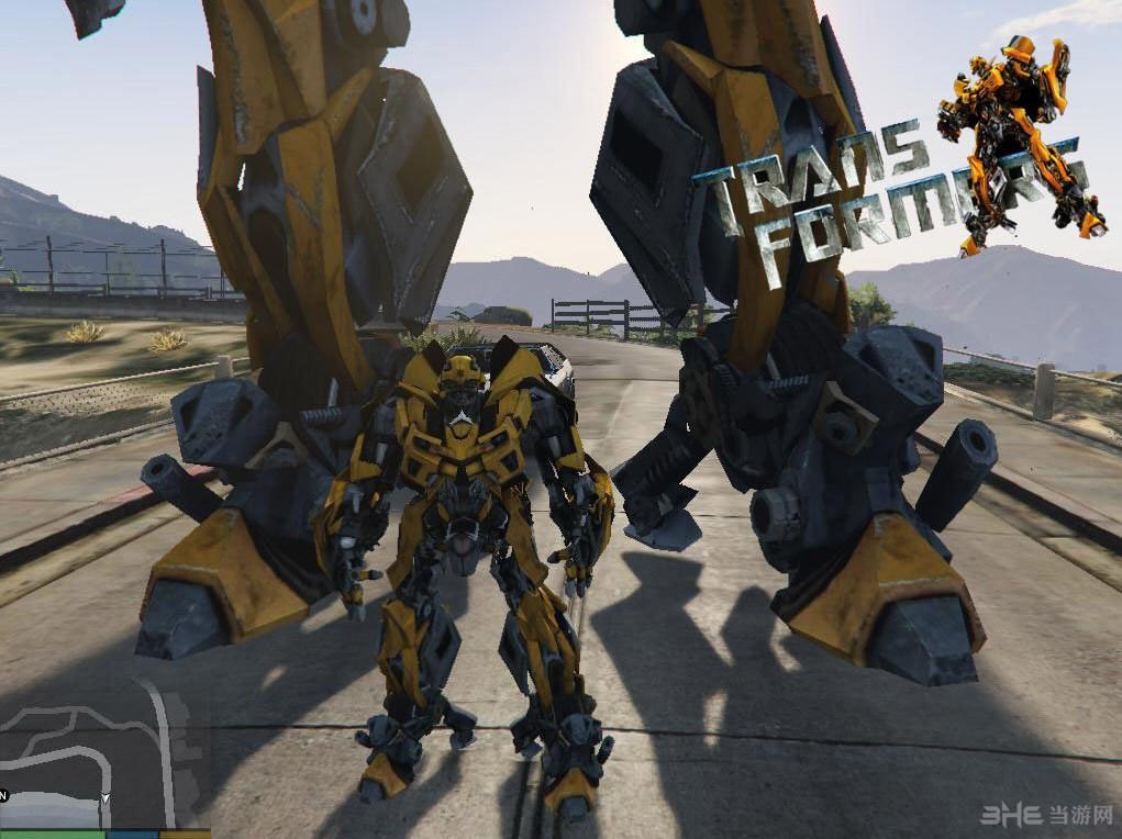 侠盗猎车手5变形金刚大黄蜂造型MOD截图3