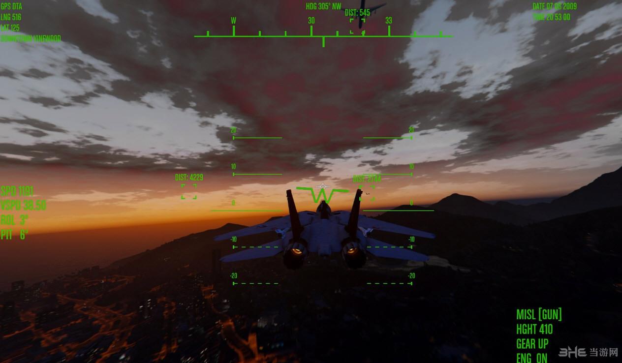 侠盗猎车手5喷射机监控界面MOD截图2