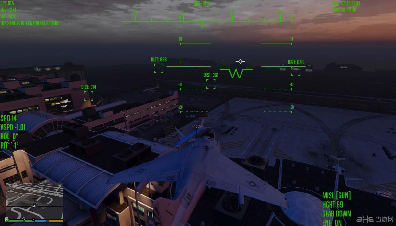 侠盗猎车手5喷射机监控界面MOD截图4