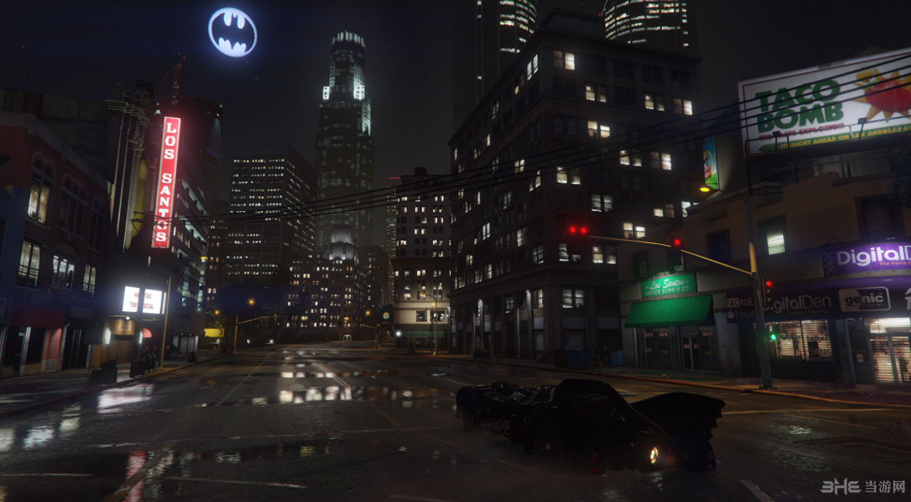 侠盗猎车手5蝙蝠侠标志月亮MOD截图4