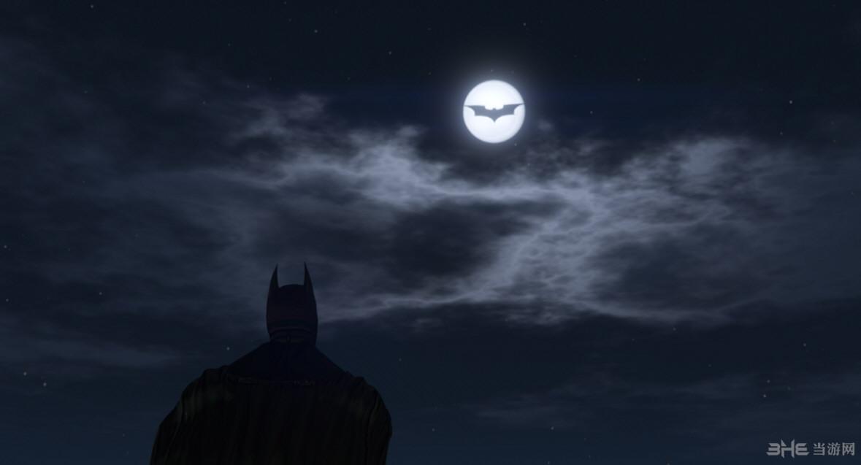 侠盗猎车手5蝙蝠侠标志月亮MOD截图1