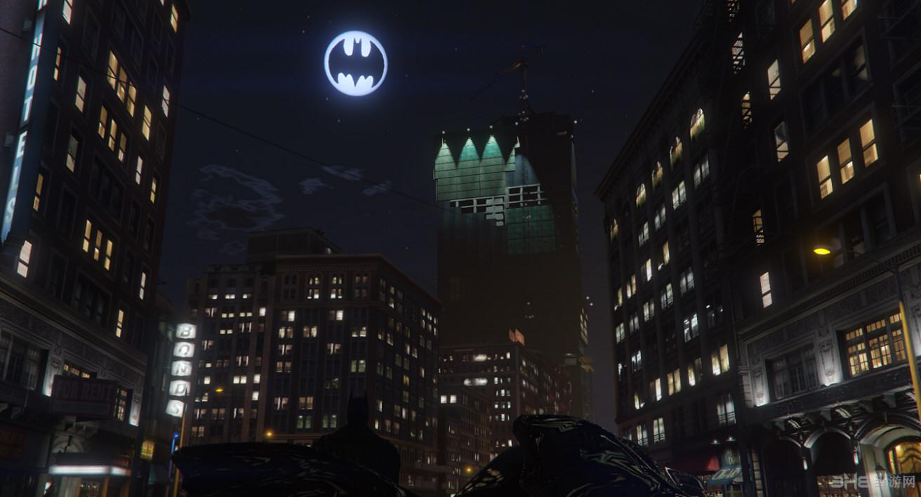 侠盗猎车手5蝙蝠侠标志月亮MOD截图2