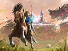 塞尔达传说荒野之息壁纸 林克骑战马再救公主
