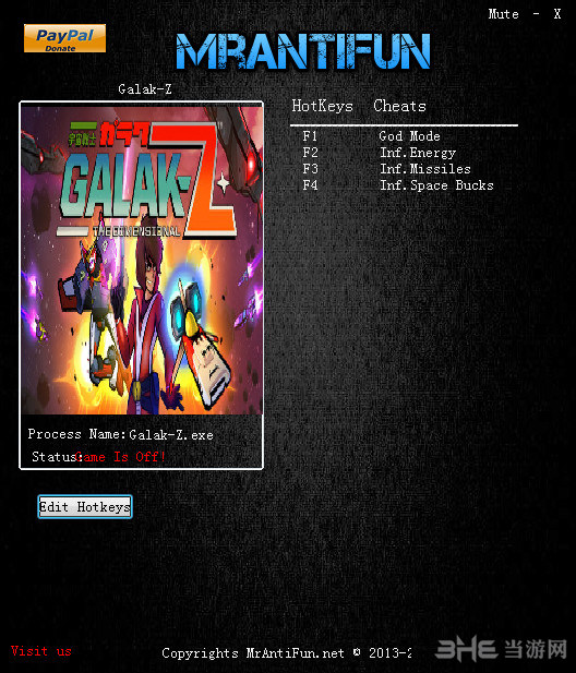 Galak-Z四项修改器截图0