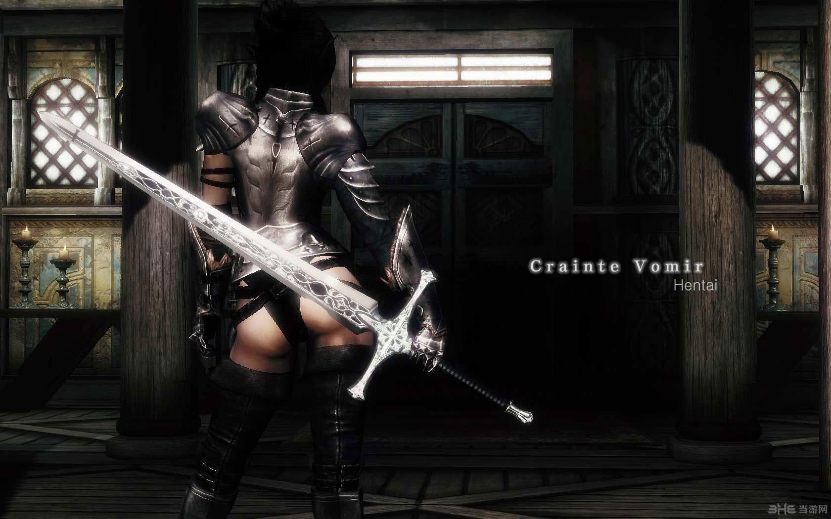 上古卷轴5:天际重制版漂亮的双手剑Crainte Vomir MOD截图0