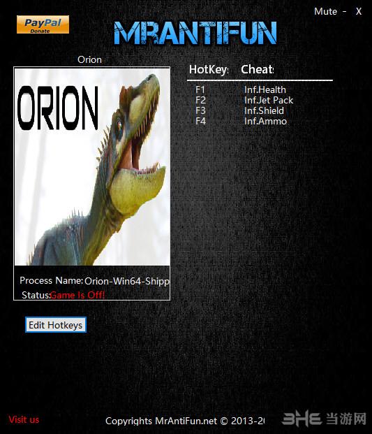 猎户座恐龙强袭四项修改器截图0
