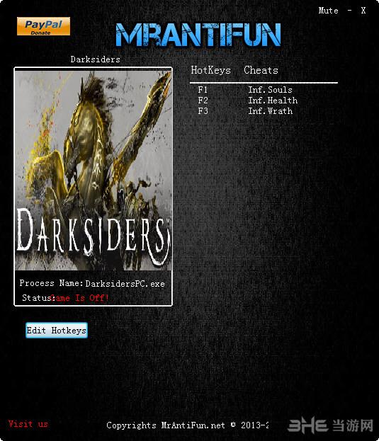 暗黑血统战神之怒三项修改器截图0