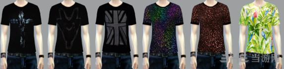 模拟人生4 12色男式T恤MOD截图2
