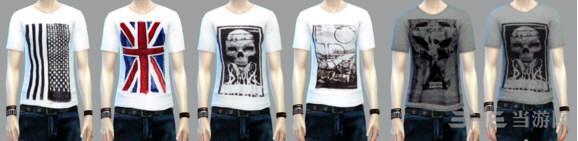 模拟人生4 12色男式T恤MOD截图1