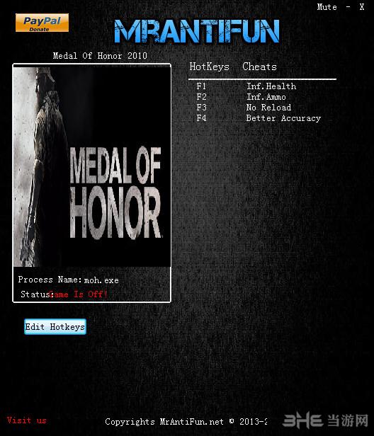 荣誉勋章2010四项修改器截图0