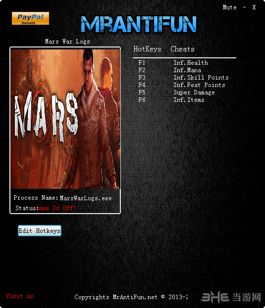 火星:战争日志六项修改器截图0