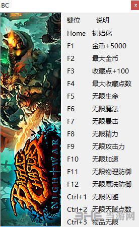 战神夜袭十六项修改器peizhaochen版截图0