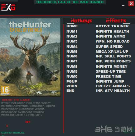 猎人:野性的呼唤v1.8-1.12十三项修改器截图0