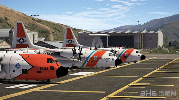侠盗猎车手5USCG C-130大力士空战运输机整合包MOD截图1