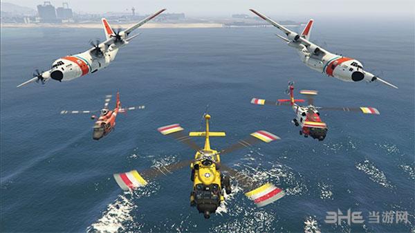 侠盗猎车手5USCG C-130大力士空战运输机整合包MOD截图3