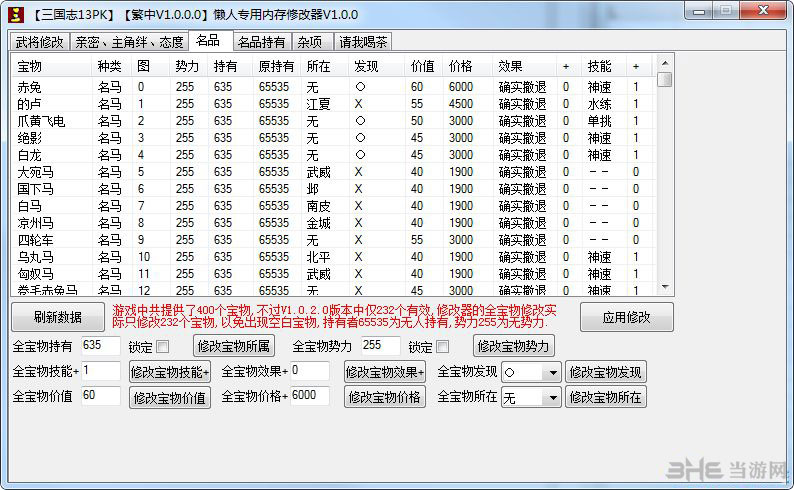 三国志13:威力加强版懒人专用内存修改器截图5