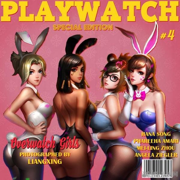 守望先锋色情杂志封面1