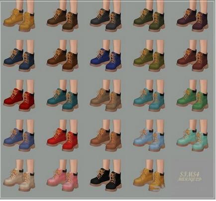 模拟人生4 24色高帮帆布鞋MOD截图0